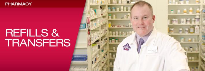 Pharmacy Refills & Transfers Header