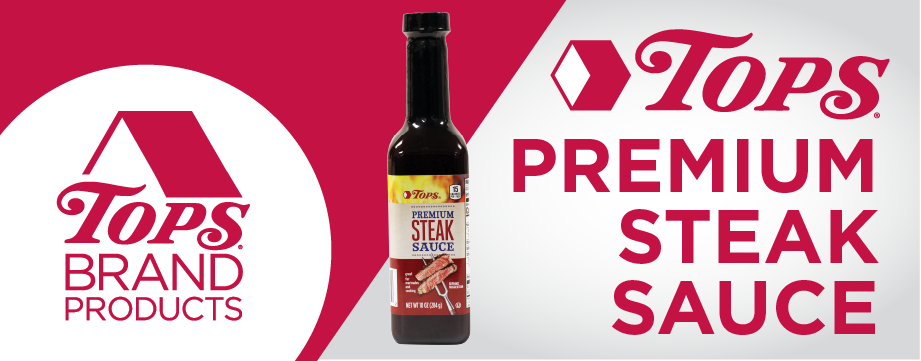 TOPS Brand Premium Steak Sauce