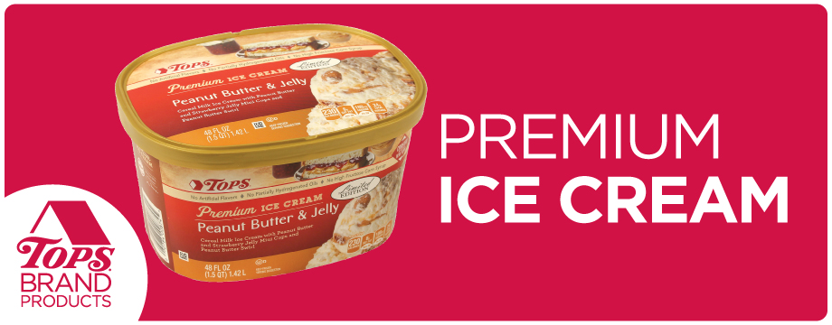 TOPS Brand Premium Ice Cream