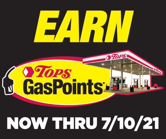 Earn Tops GasPoints through July 10 2021