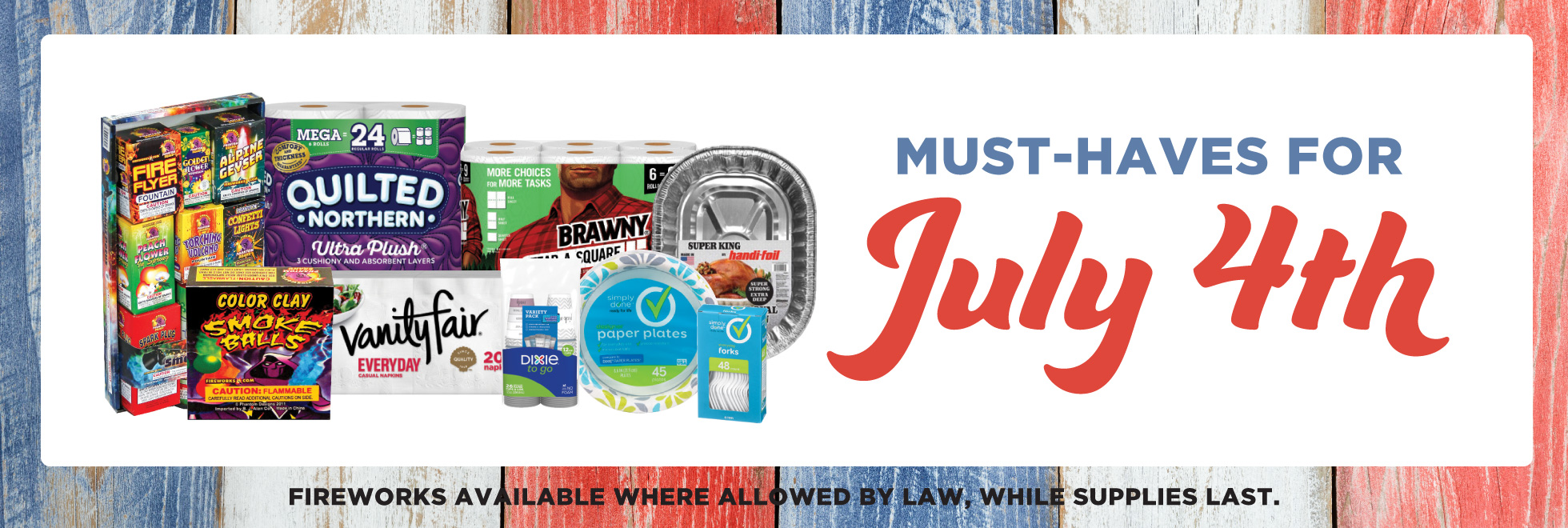 Household Sale Must Haves for the 4th of July
