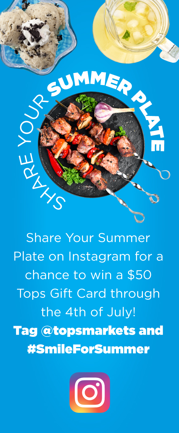 Tops Instagram Summer Plate Contest