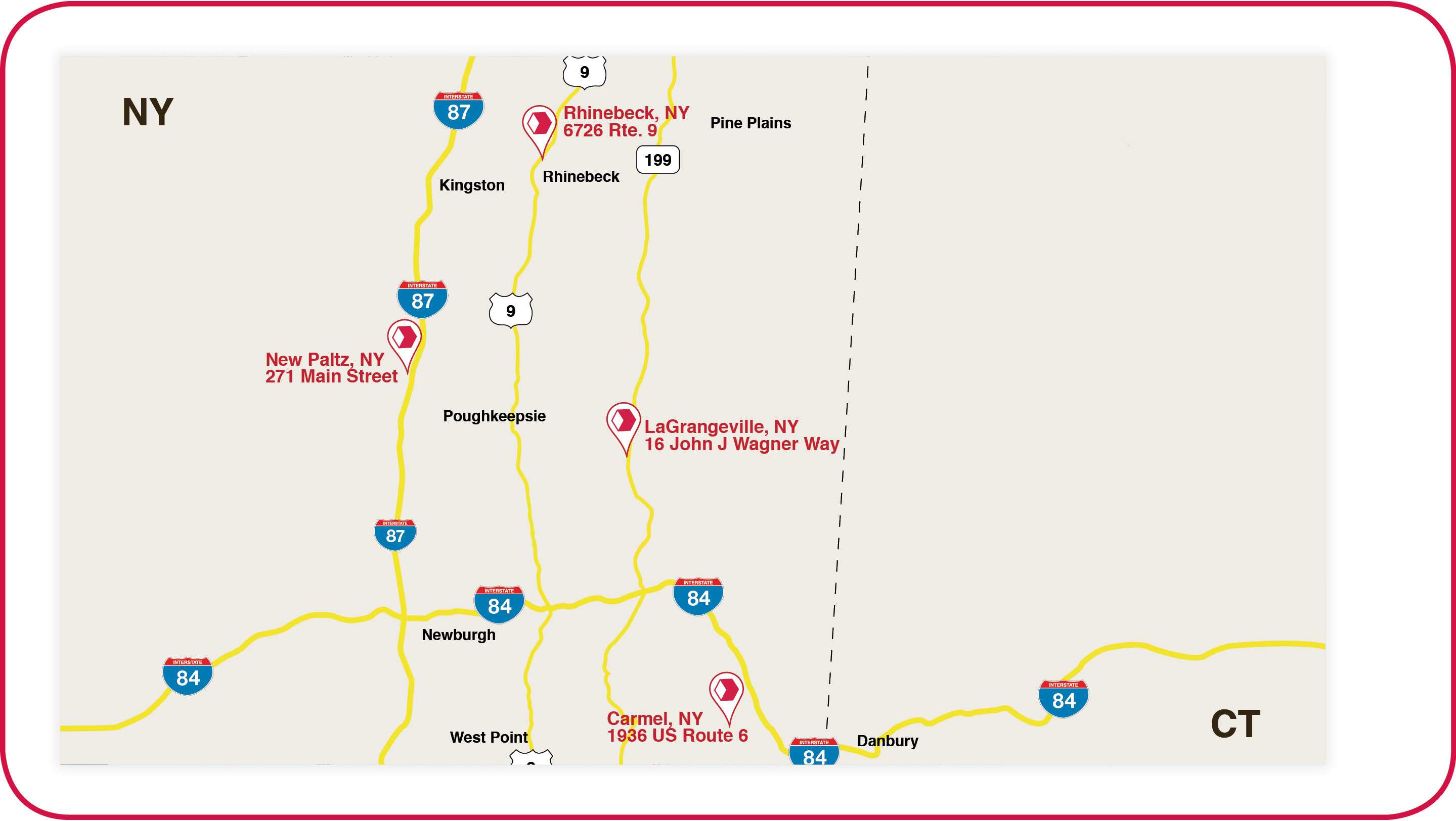 Map of stores