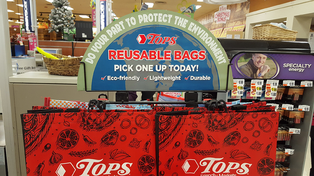 Resuseable Bag Sign in Store