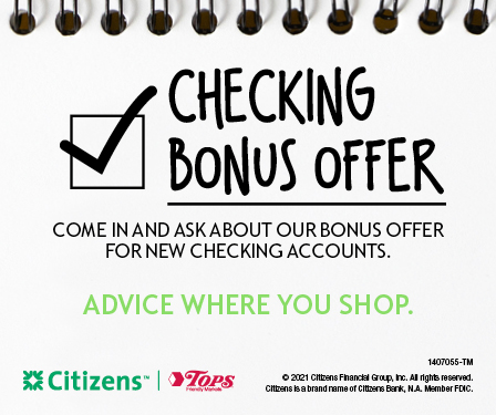 Citizens Bank 					Offer