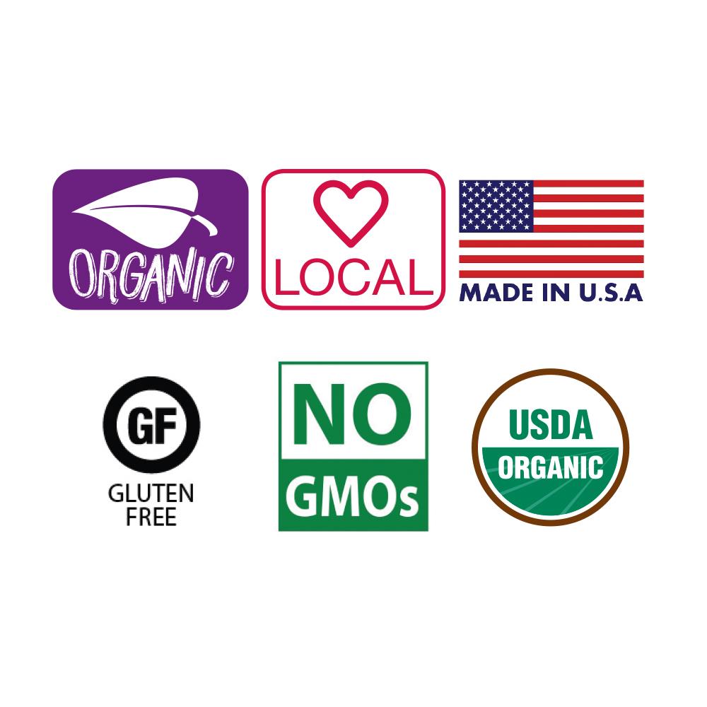 Organic and Healthy Logos